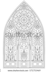 Church Window Stock Images, Royalty