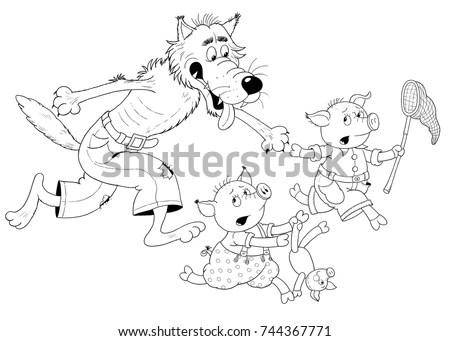 Little Red Riding Hood Fairy Tale Stock Illustration
