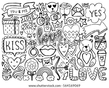 Back School Sketchy Notebook Doodles Flowers Stock Vector