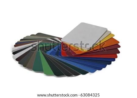 Sample Metal RAL Color Chart Stock Photo (Royalty Free) 63084325 ...