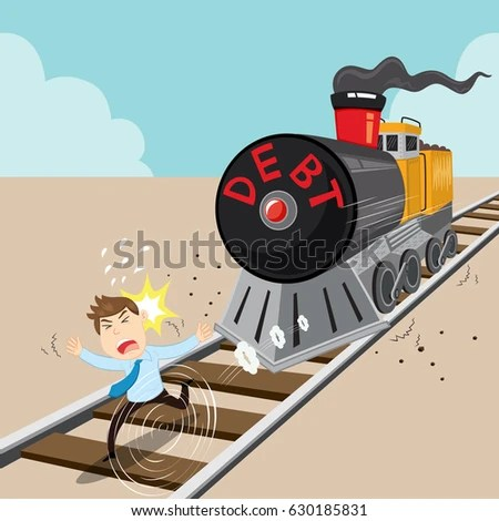 Image result for debt train