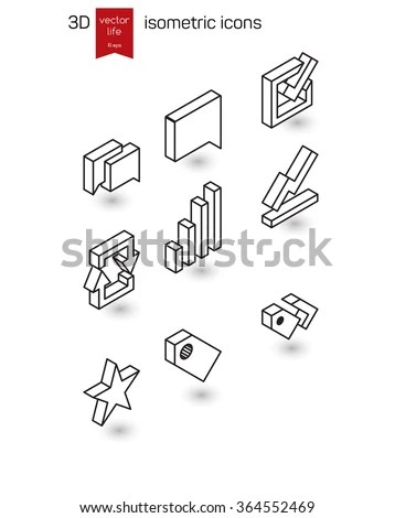Isometric Icons Stock Images, Royalty-Free Images