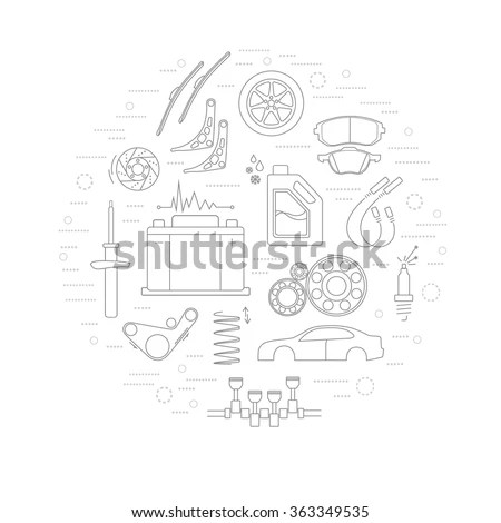 Auto Spare Parts Stock Images, Royalty-Free Images