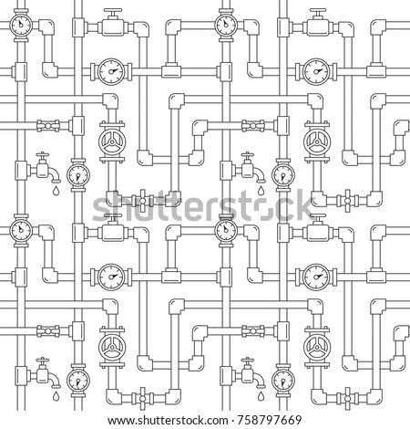 Electronic Black White Diagram Technical Schematic Stock
