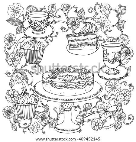 Tea Pot Shape Coloring Pages