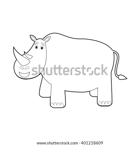Fat Pig Standing Outline Graphic Vector Stock Vector