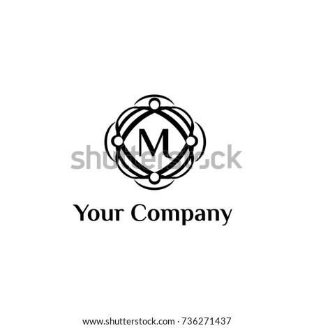 Fashion Brand Vector Logo Template Letter Stock Vector