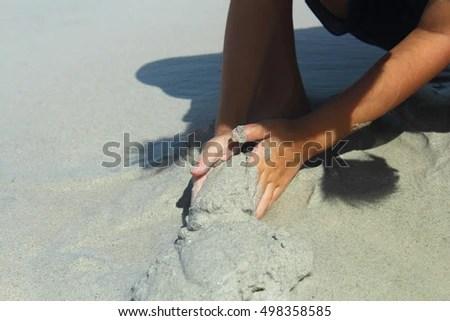 Baby Sitting Walking On Beach Enjoy Stock Photo 498358549  Shutterstock