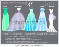 Dress Styles Different Body Type Dresses Stock Vector ...