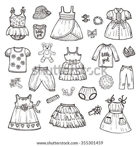 Clothes Drawing Stock Images, Royalty-Free Images