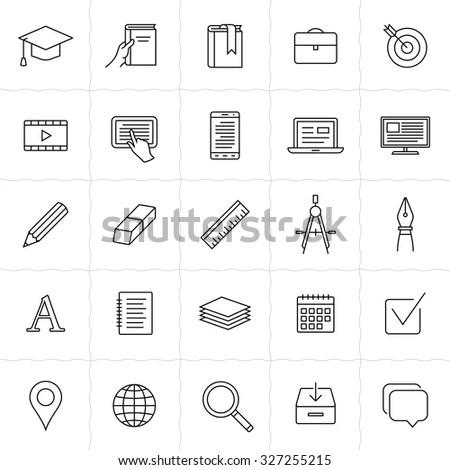 School Education Related Symbols Stock Vector 75317008