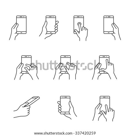 Holding Phone Stock Images, Royalty-Free Images & Vectors