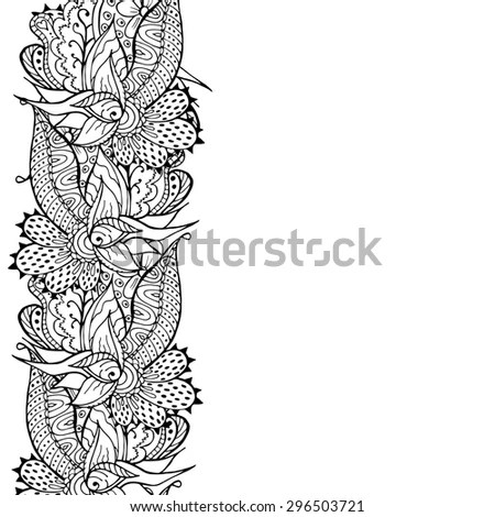 Stylized Cockatoo Parrot Isolated On White Stock Vector