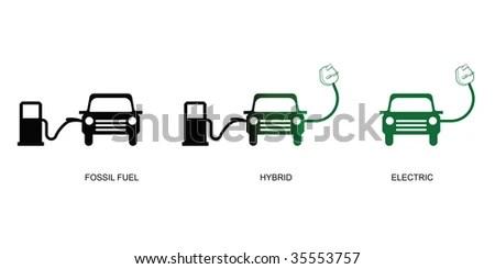 Evolution Green Electric Car Technology Stock Illustration