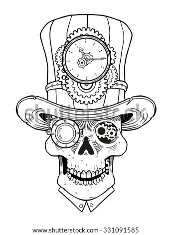 Steampunk Skull Stock Images, Royalty-Free Images