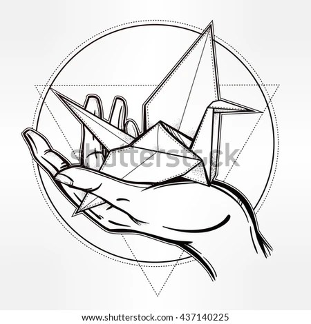 Crane Tattoo Stock Images, Royalty-Free Images & Vectors