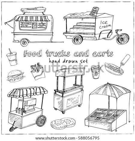 Food Cart Stock Images, Royalty-Free Images & Vectors