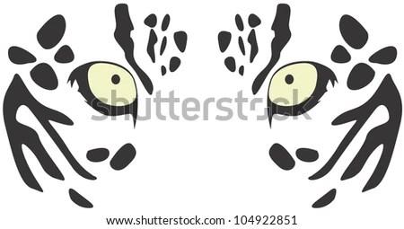 Creative Leopard Eyes Illustration Stock Vector 104701817