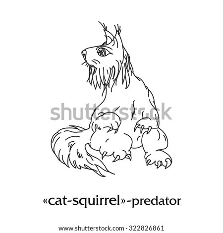 Squirrel outline Stock Photos, Images, & Pictures