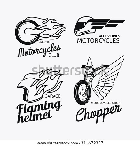 Motorcycle Race Logo Vector Motorbike Label Vectores En