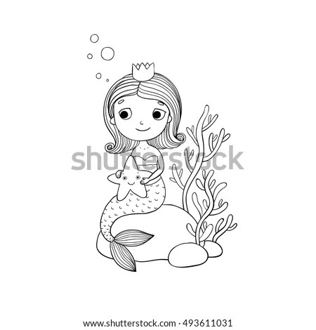 Hand Drawn Girl Stock Images, Royalty-Free Images