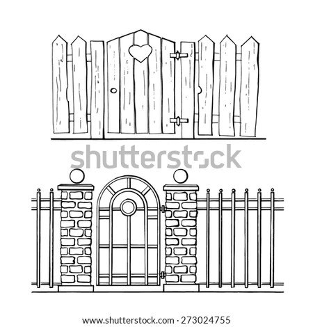 Garden Gate Stock Images, Royalty-Free Images & Vectors