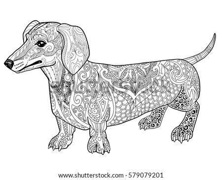 Cartoon Dachshund Stock Images, Royalty-Free Images