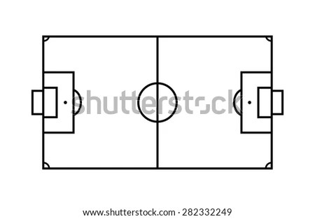 Vector Outline Lines On Soccer Football Stock Vector