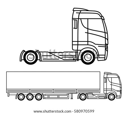 Truck Outline Stock Images, Royalty-Free Images & Vectors