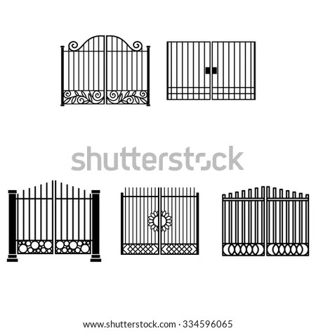 Wrought Iron Gate Stock Photos, Royalty-Free Images