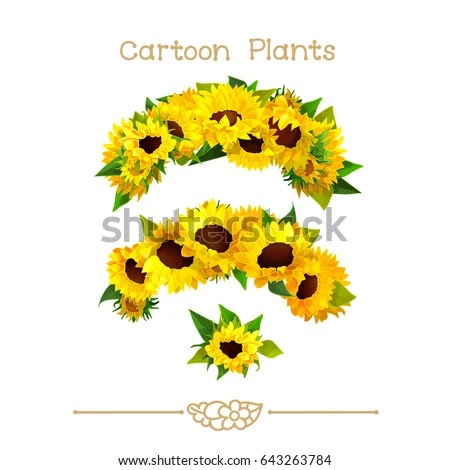 vector pic series cartoon plants
