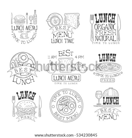 Cafe Menu Food Placemat Brochure Restaurant Stok Vektör