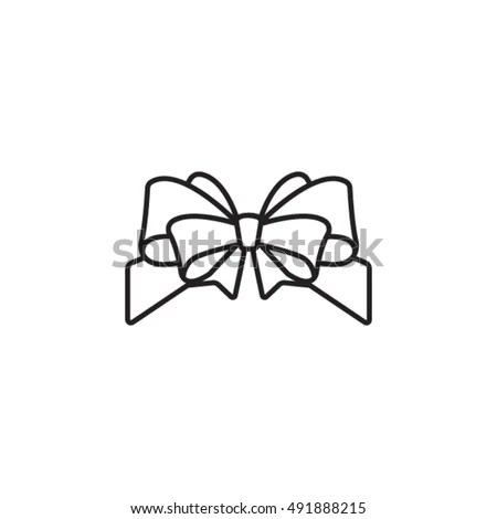 Fancy Outline Ribbon Bow Darton Bows Wiring Diagram ~ Odicis