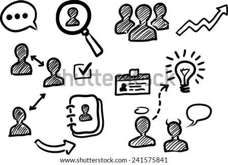 Line Drawing People Stock Photos, Images, & Pictures