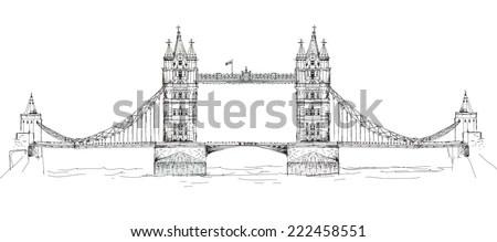 Bridge Sketch Stock Images, Royalty-Free Images & Vectors
