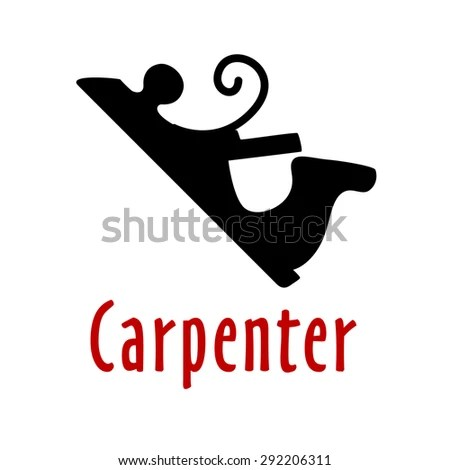 Old Carpenters Isolated Planer Wood Stock Photos, Images