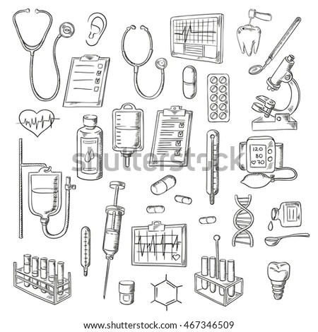 Hospital Sketch Stock Images, Royalty-Free Images