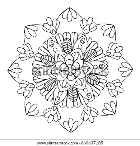Hand Drawn Artistic Ethnic Ornamental Patterned Stock