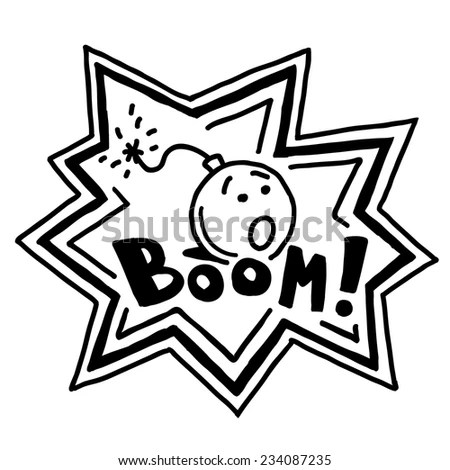 Ghetto Blaster Boombox Sketch Drawing On Stock Vector