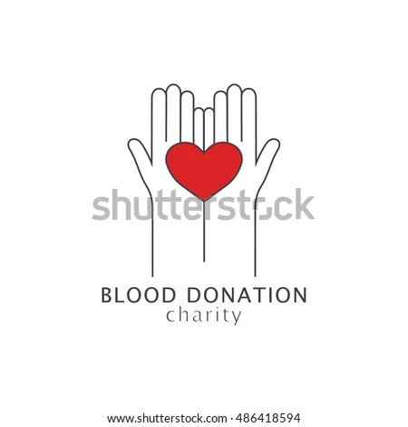 Vector Banner Templates Blood Donation Sign Stock Vector