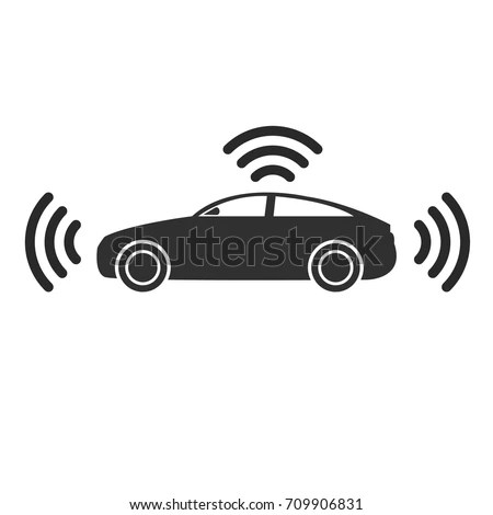 Smart Car Icon Vector Illustration Stock Vector 709906831