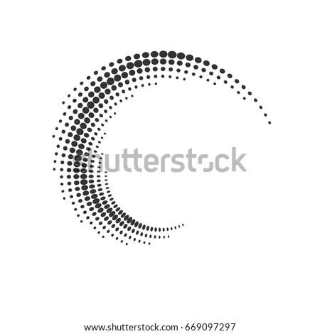 Halftone Dots Circle Texture Creative Geometric Stock