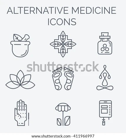 Colorblock Alternative Medicine Icons Iv Vitamin Stock
