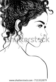 curly stock royalty-free