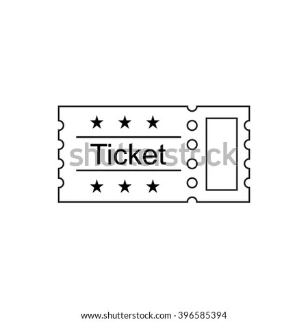 Ticket Icon Outline Style Vector Illustration Stock Vector