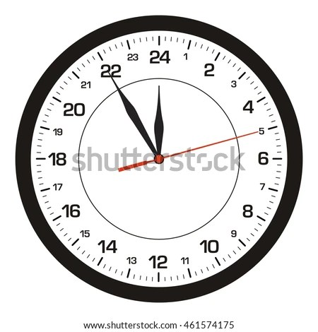 24 Hour Clock Stock Images, Royalty-Free Images & Vectors