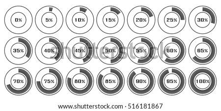 Circle Diagram Pie Charts Infographic Elements Stock
