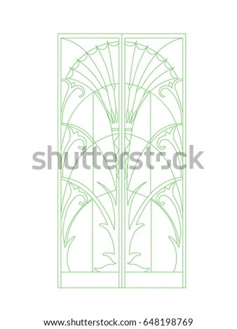 Floral Stainedglass Pattern Stock Vector 456194662
