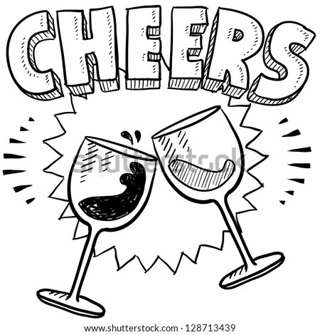 Champagne Glass Coloring Pages