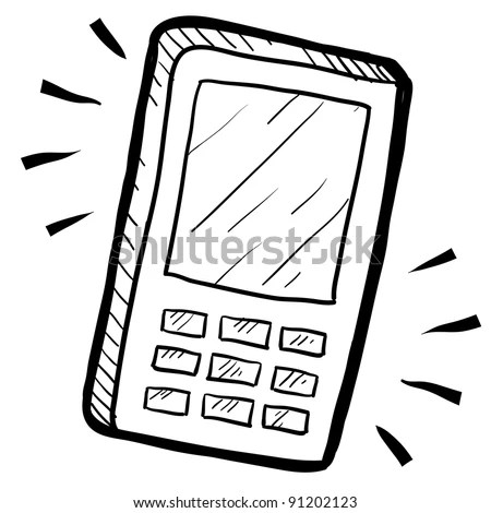 Mobile Phone Drawing Stock Images, Royalty-Free Images